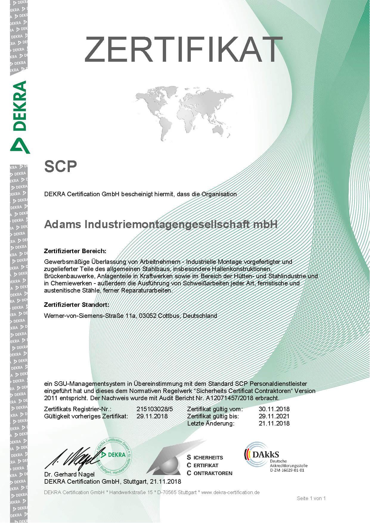 adams-unternemnen-zertifikat-dekra